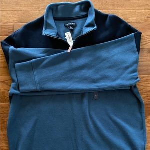NWT Lands End Men's Quarter ZIP 1/4 42-44 L large
